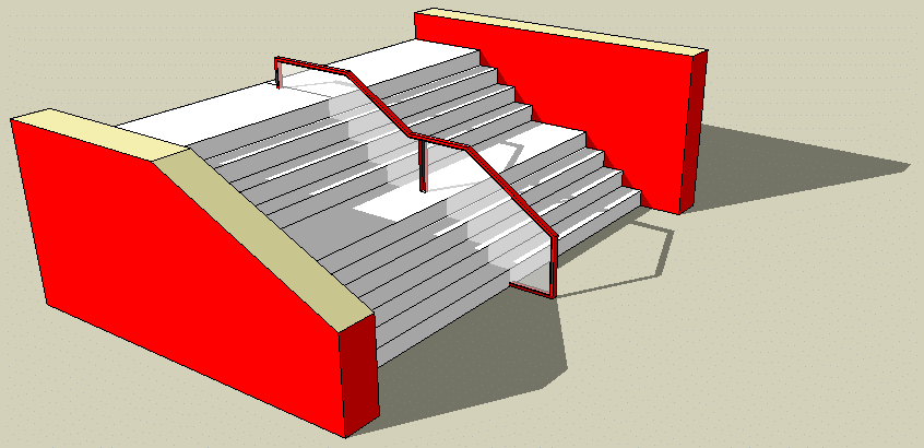 sik stair feature i desinged and made on  google sketchup