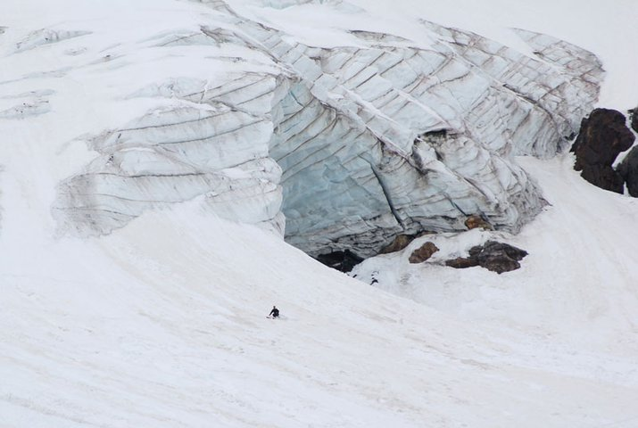 Skiing with glacier 6/4