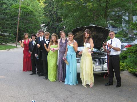 our limo died at prom!