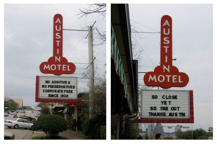 phalic hotel sign