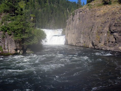 Kayaking 65 ft waterfall