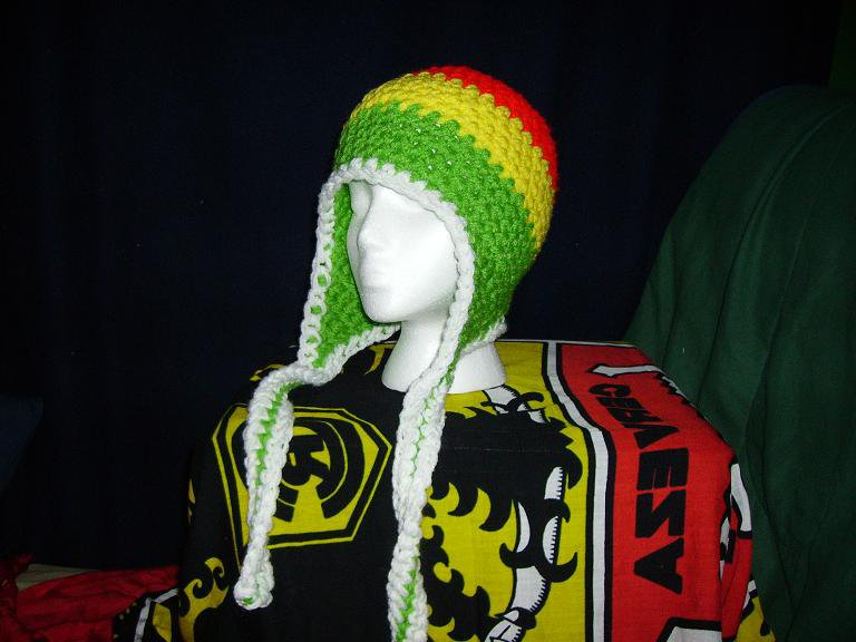 crocheted rasta hat