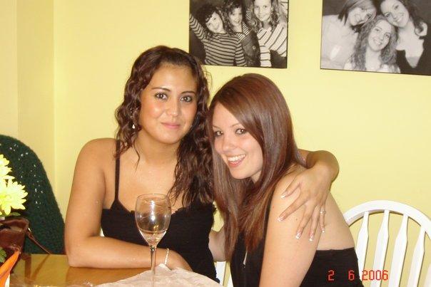 Jess and Lauren (sister) b4 club