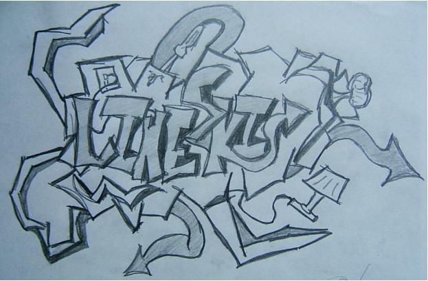 line graffiti