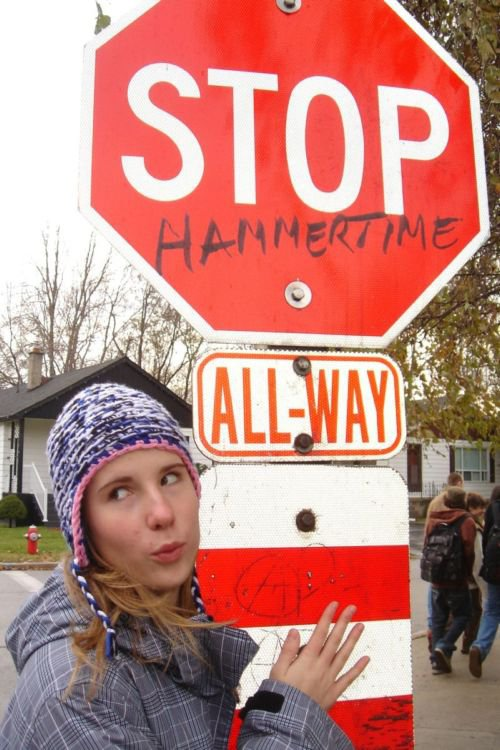 susan vandalized a stop sign ohhh rebel now