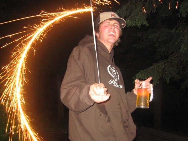 Sparklers are fun!!!
