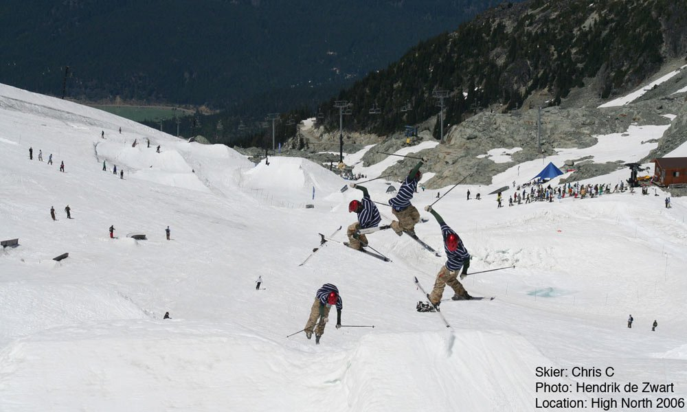 Chris c losing his ski... hehe