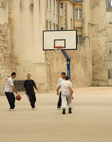 Ballin' next to the city wall