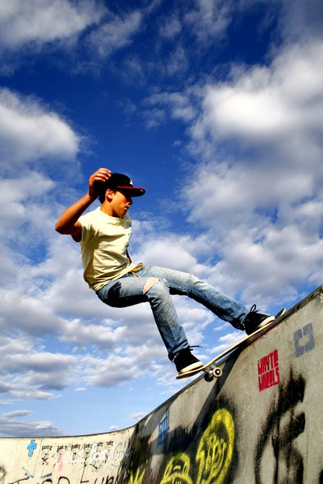 Skate Shot in Colour