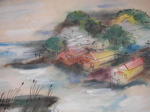 Shore Watercolor