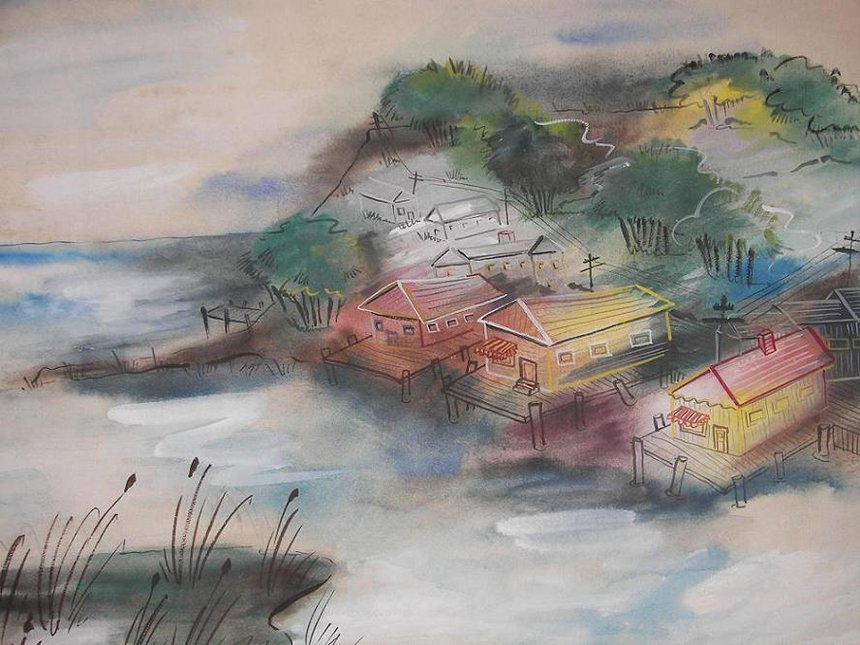 Shore Watercolor