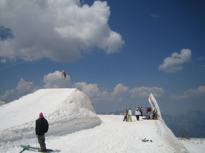 Its a snowboarder, but a cool shot.