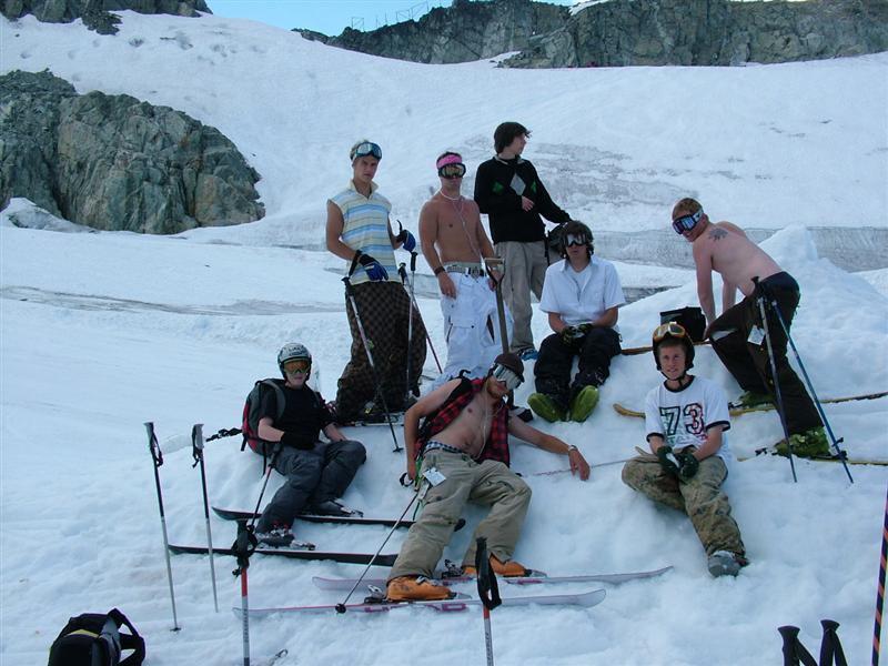 Team on the Glacier