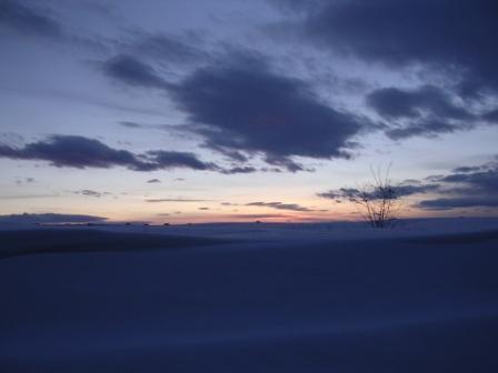 Montana winter sunset
