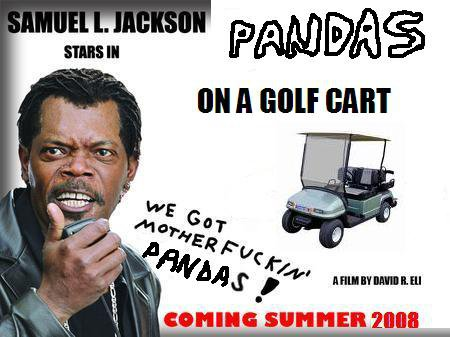 Pandas on a Golf Cart