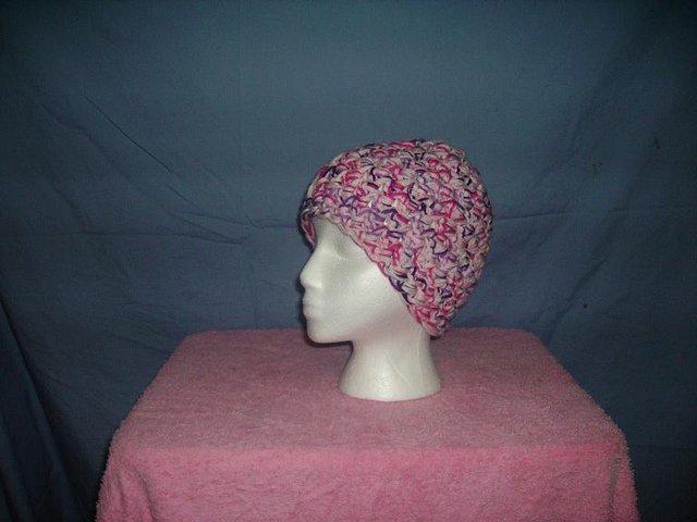 Pink mix girly beanie