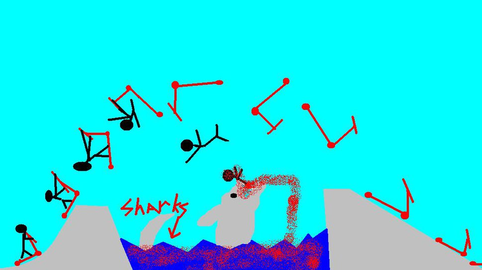 Scooter sam gets eaten by sharks