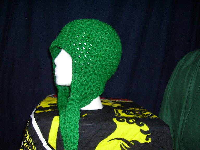 Dark green w/ huge earflaps
