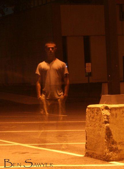 Self under streetlamp