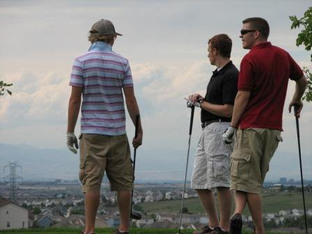Kendall, Ryan, and Me Golfin'