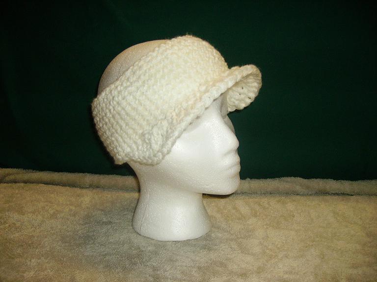 White visor headband