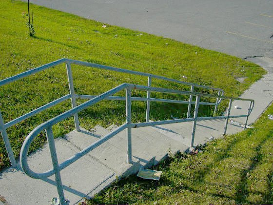 Handrail.