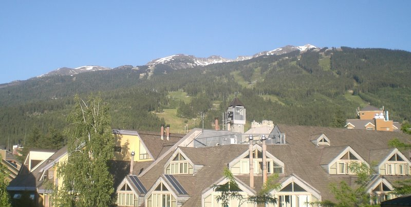 Whistler village and mt.