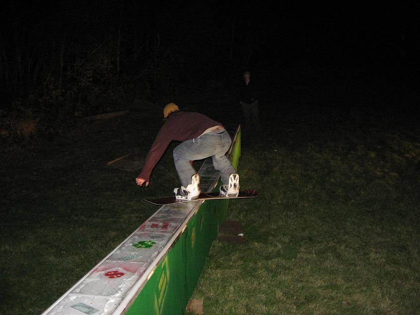 Keith sliding the box