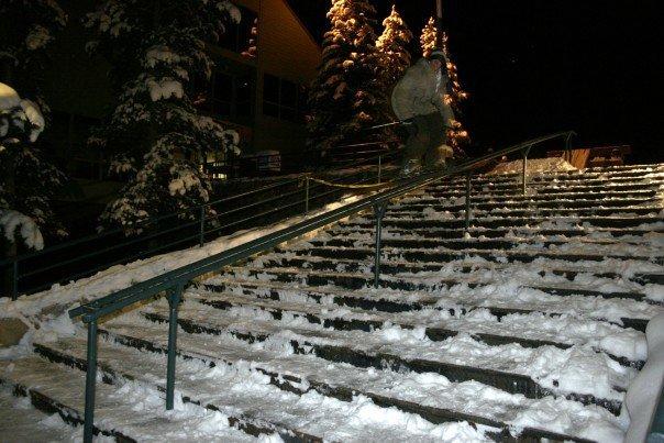 Sliding a handrail