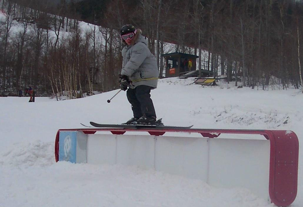 Steezing the box thingy at whiteface ny
