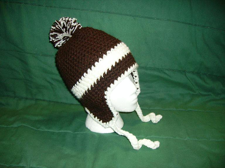 Brown beanie for customer
