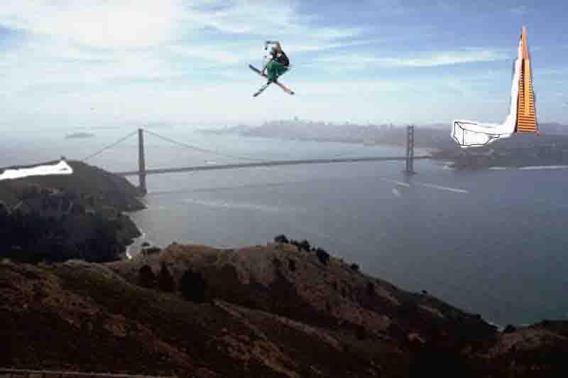 Gap over bridge