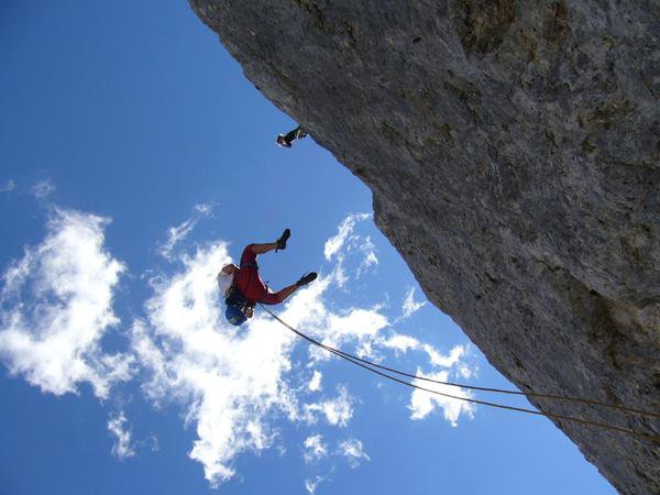 Climbing in cortina d'ampezzo /italy