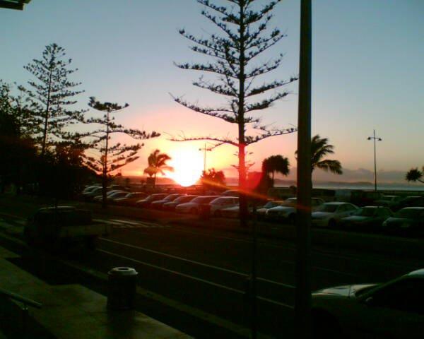 Kool sunset over the ocean