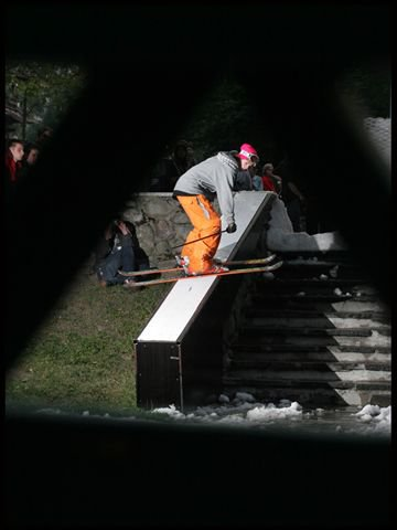 Haha Bs Sw Up to Kiss the Rail