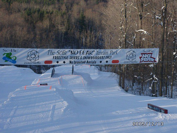 This is snowtrails terrain park from las year