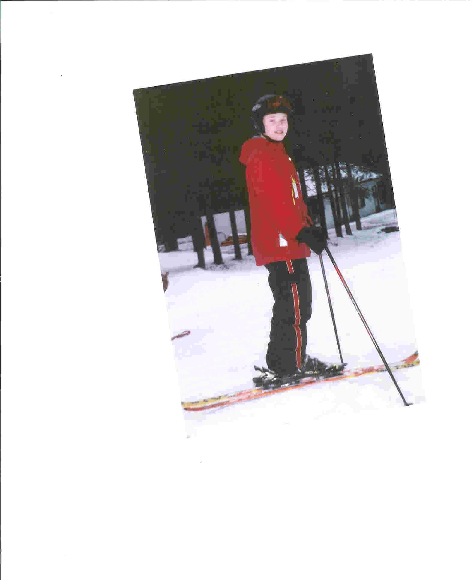 Me last year on skis