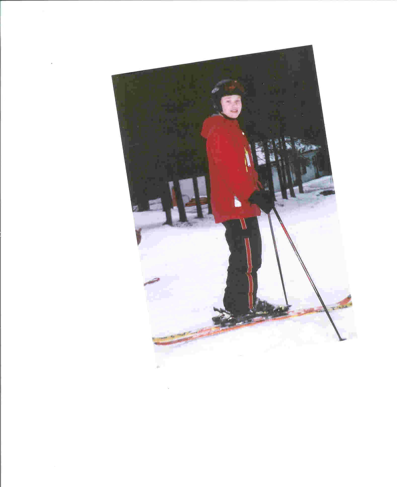 Me last year on skis