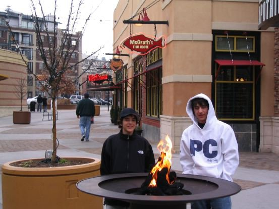 Chillen by da Fire in SLC