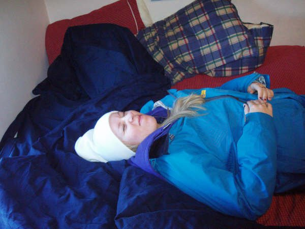 I fell asleep in my ski clothes