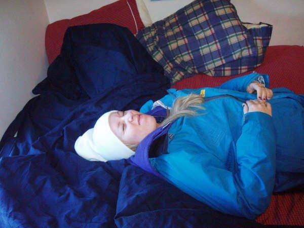 I fell asleep in my ski clothes