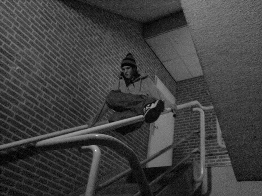 Stairslidin at school