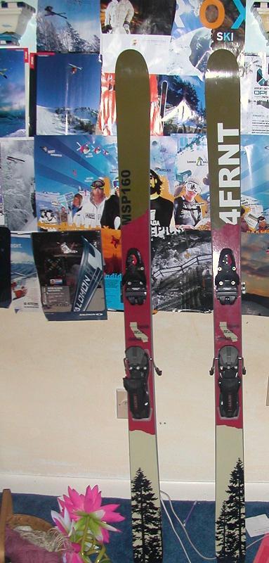 My skis w/ bindings