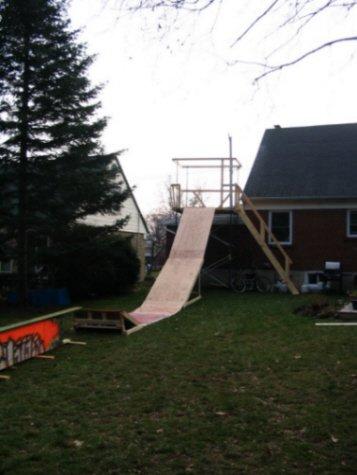 Drop and rail In Backyard