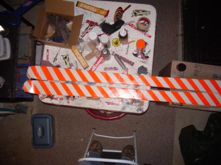 Painted ski 2