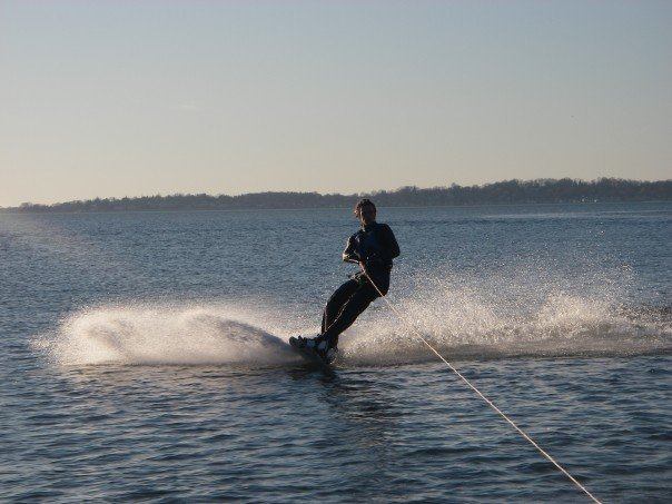 Wakeboarding a week ago in CT