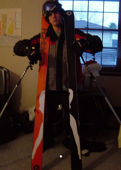 My new skis and me