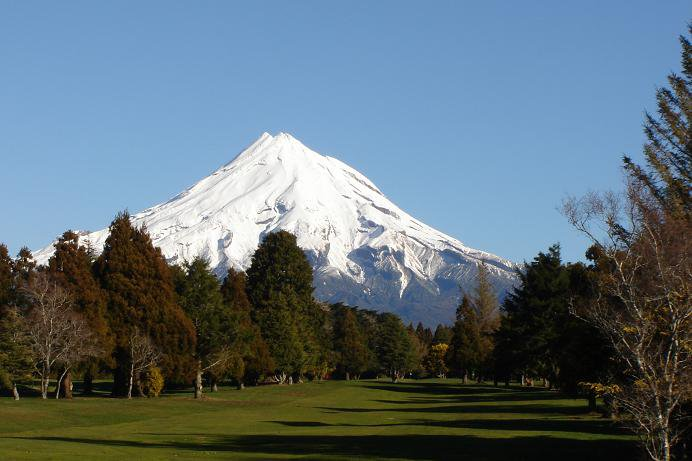 Mountain from golf course