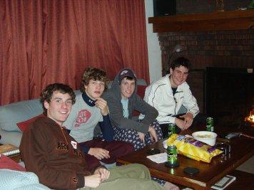 Chillin in the condo after skiin