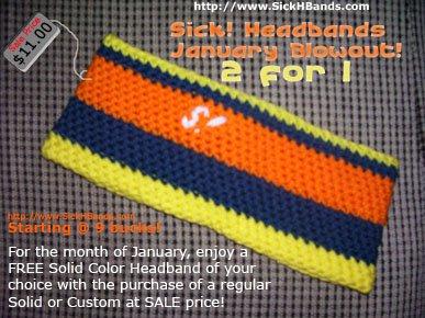 Sick! Headbands January 2 for 1 Sale